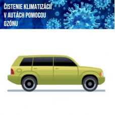 Čistenie klimatizácie ozónom (osobné auto)