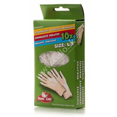 Jednorázové vinylové rukavice L/9 10 ks